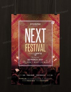 Next Festival – Free PSD Flyer Template