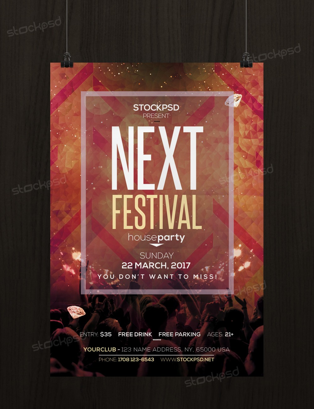 Next festival free psd flyer template for Free psd flyer templates