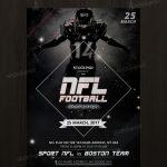 NFL Football – FREE Sport PSD Flyer Template