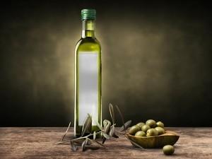 Olive Oil Bottle Mockup Free PSD