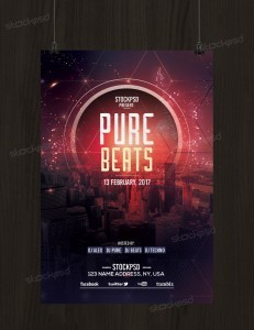 Pure Beats – Free PSD Flyer Template