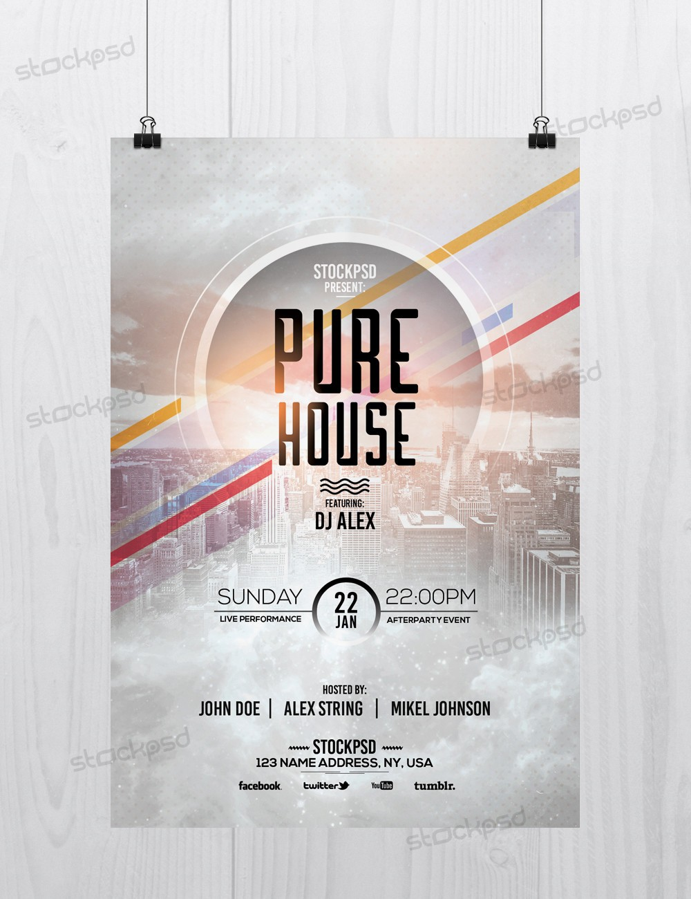 psd flyers brochure mockups more templates pure house psd flyer template