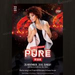 Pure Vibe - Download Free PSD Flyer Template