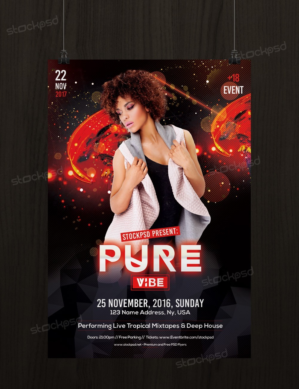 Pure Vibe – Download Free PSD Flyer Template