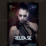 Release Sound – Freebie PSD Flyer Template