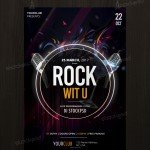 Rock Wit U – Free PSD Flyer Template