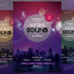 Skyline Sound – Download Free PSD Flyer Template
