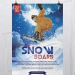 Snow-Boards Sport - Freebie PSD Flyer Template