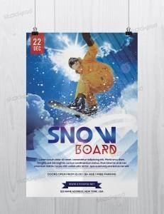 Snow-Boards Sport – Freebie PSD Flyer Template