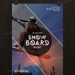 Snowboard – Free PSD Flyer Template