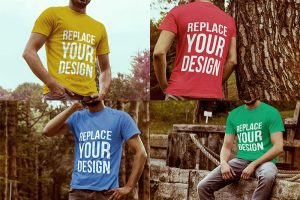 4 Free T-shirt Mock-up Templates