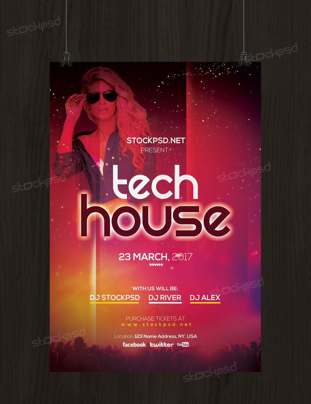 Tech House Party – Free PSD Flyer Template