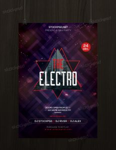 The Electro – Download Free PSD Flyer Template