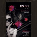 Trance Sound - Free Club PSD Flyer Template
