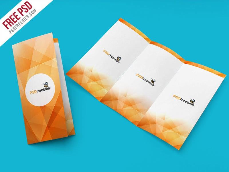 Tri-Fold Brochure Mockup – Free PSD Template