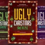 Ugly Christmas Sweater - Download Free PSD Flyer Template
