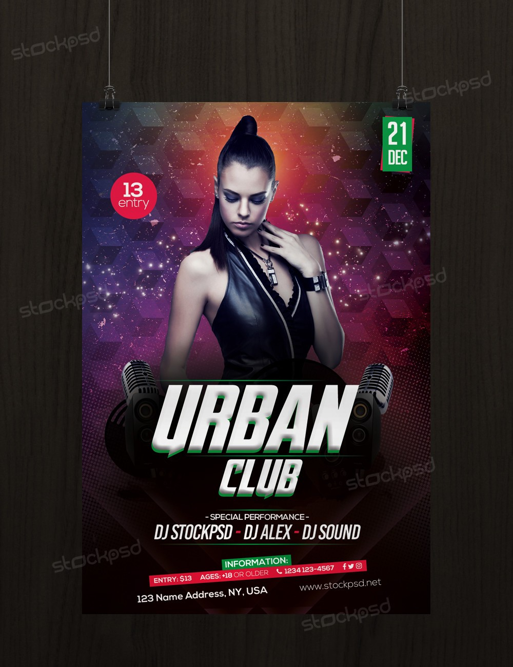 urban club download free psd flyer template stockpsd