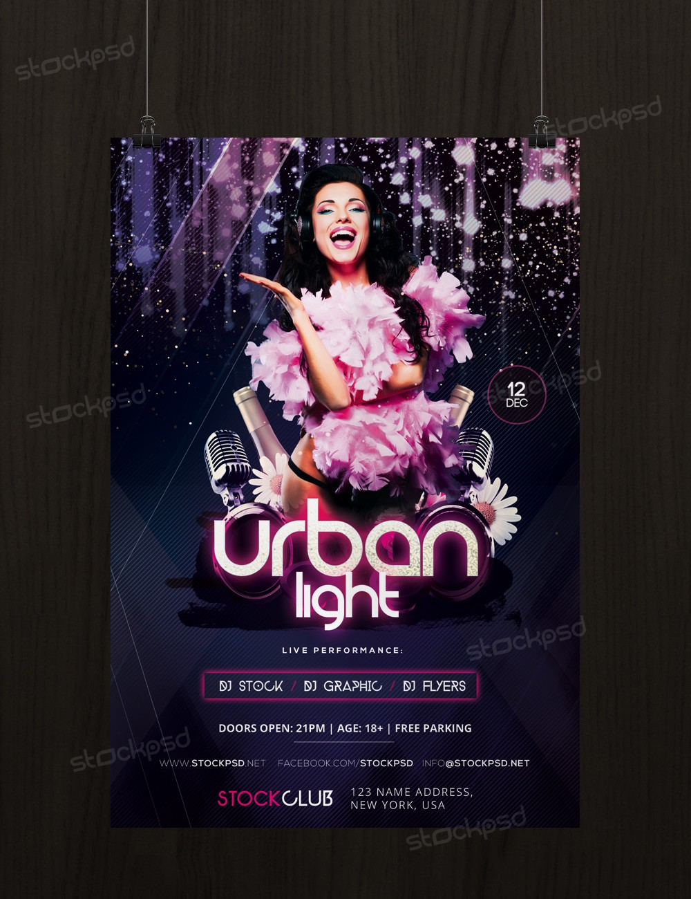 urban light psd flyer template net