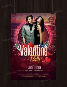 Valentines Party 2017 – Free PSD Flyer Template