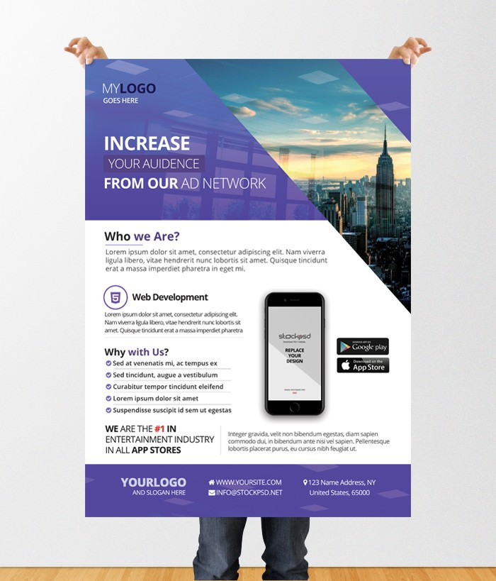 agency business download free business psd flyer template stockpsd