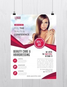 Beauty Care – Download Free PSD Flyer Template