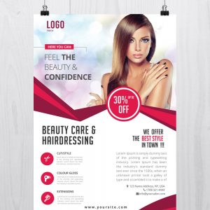 Beauty Care - Download Free PSD Flyer Template