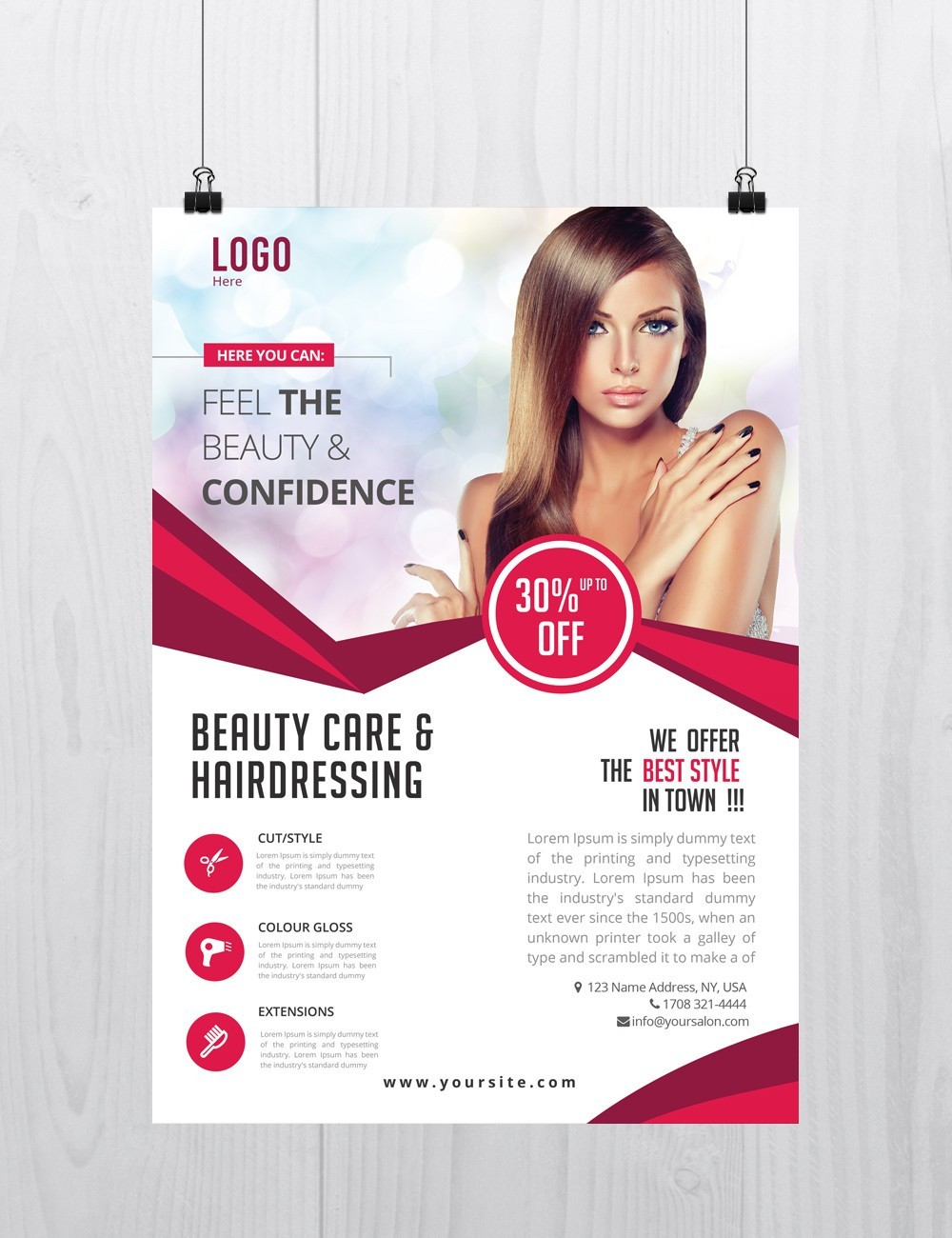 beauty care download free psd flyer template stockpsd