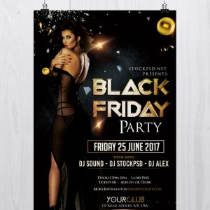 Black Friday - Download Free PSD Luxury Flyer Template