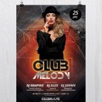 Club Melody – Free PSD Flyer Template