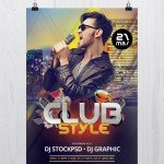 Club Style – Download Free PSD Flyer Template