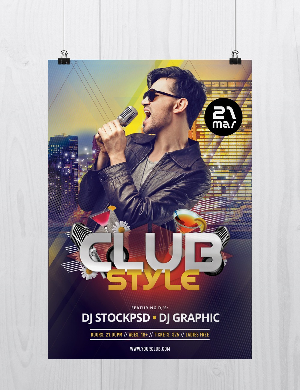 Club Style Download Free Psd Flyer Template Stockpsd