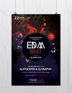 EDM Beat – Free PSD Flyer Template