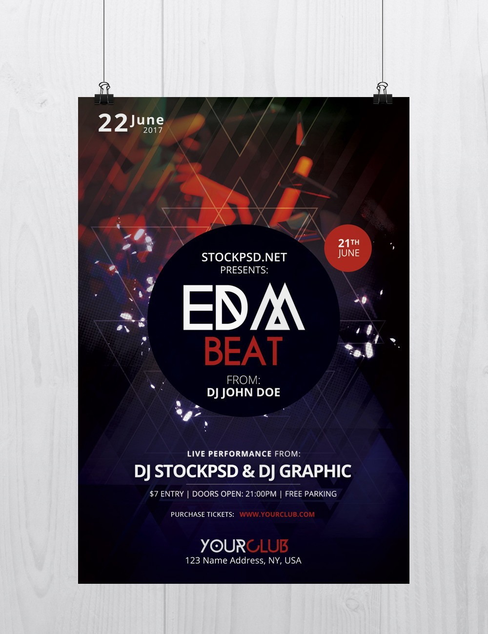 EDM Beat – Free PSD Flyer Template