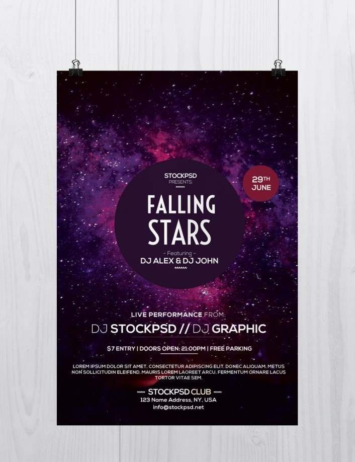 Club Party Download Free Psd Flyer Template Stockpsd