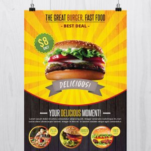 Fast Food - Download Free PSD Flyer Template