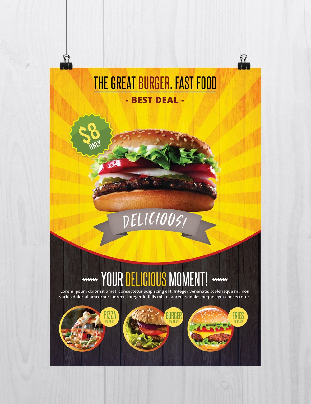 10 best flyers free psd vol 2 for Free food brochure templates