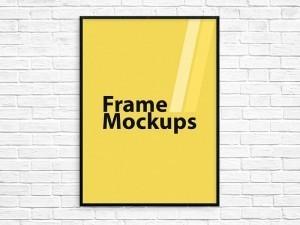 Download Free Poster Frame PSD Photoshop Mockup