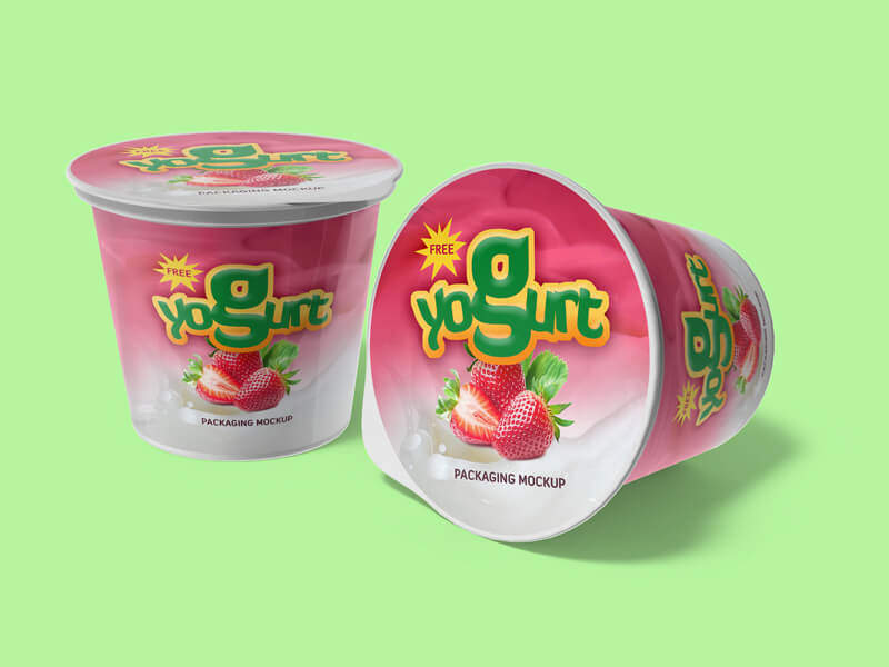Yogurt Packaging – Download Free PSD Mockup
