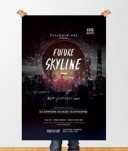 Future Skyline – Free Event PSD Flyer Template
