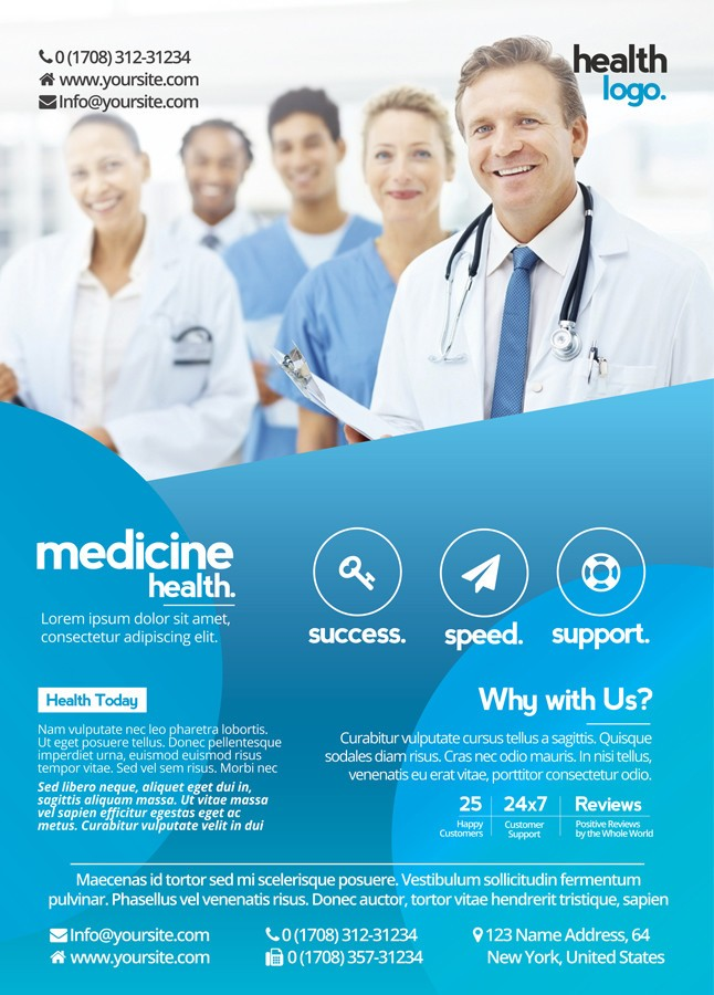 Business And Medicine Health  Free Psd Flyer Template To Download