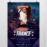 House Trance – Download Free PSD Flyer Template