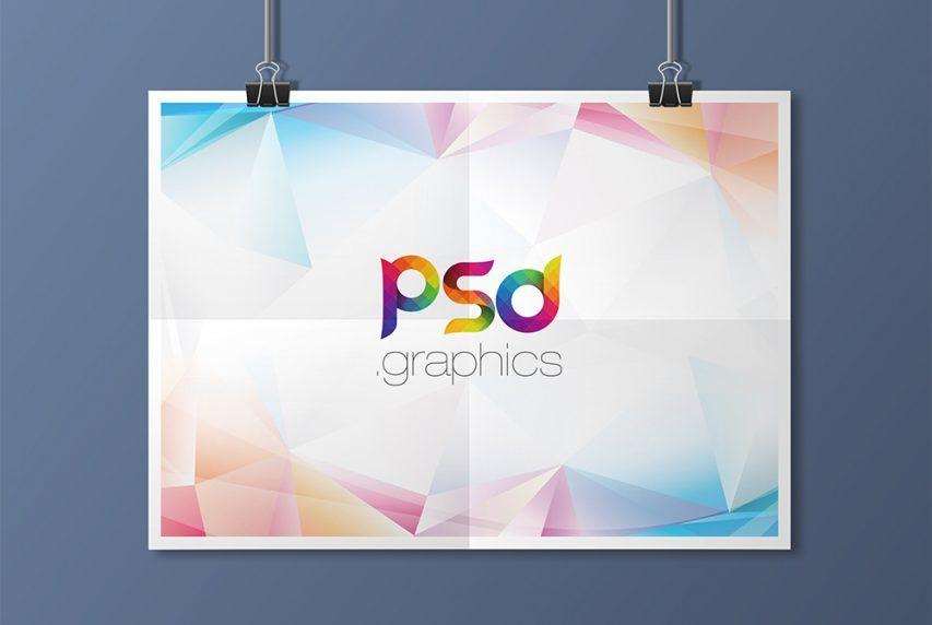 Hanging Landscape Poster – Download Free PSD Mockup