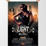 Light Music - Free PSD Flyer Template