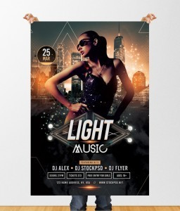 Light Music – Free PSD Flyer Template