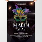 Mardi Gras Party - Download Free PSD Flyer Template