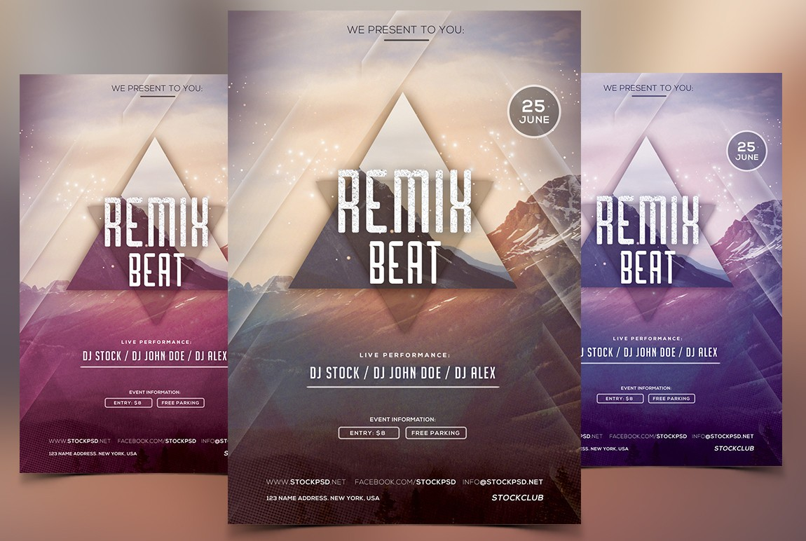 remix beat psd flyer template net to edit this flyer is recommend to have photoshop cs4 minimum or at least to have cs6 which will work perfect all fonts are a license from dafont