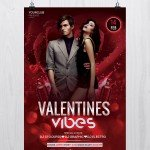 Valentine's Vibes - Free PSD Flyer Template to Download
