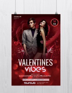 Valentine's Vibes – Free PSD Flyer Template to Download