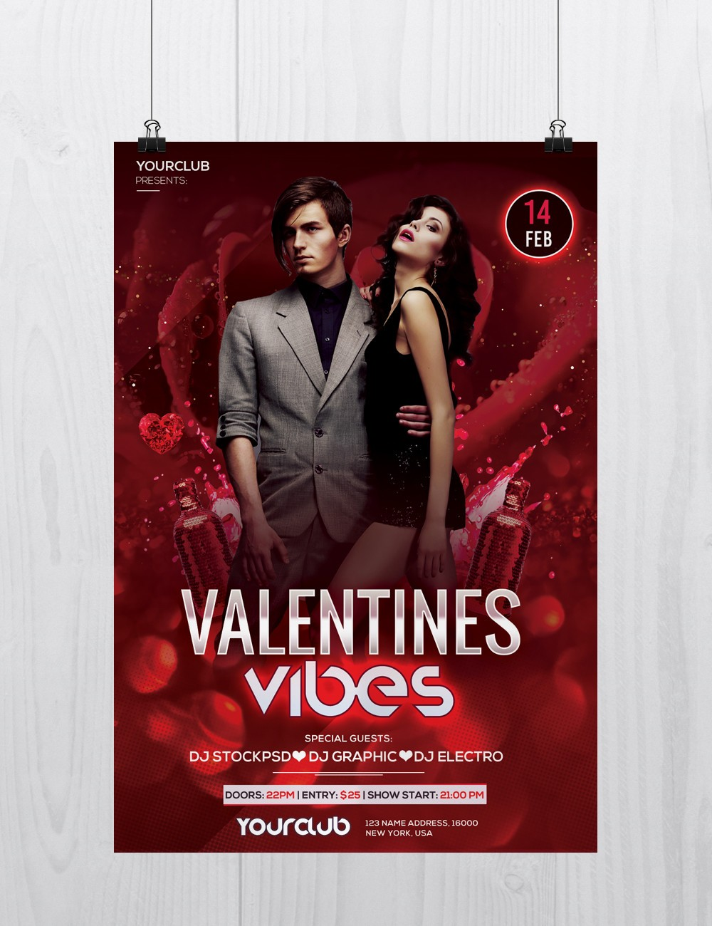 Stockpsd free psd flyers brochures and more download free valentines vibes free psd flyer template to download pronofoot35fo Choice Image