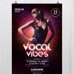 Vocal Vibes – Free PSD Flyer Template
